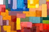De kleurrijke Abstracte Kunst van de Muur op Af:drukken