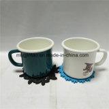 Tazza di caffè promozionale dello smalto del regalo con la stuoia della tazza