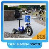 scooter électrique Zappy de 3 roues de batterie au lithium 500W