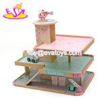 Лучший дизайн девочек розового дерева гараж автомобилей набор игрушек для детей W04b056