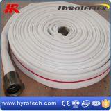 Tubo flessibile di gomma di lotta antincendio della tela di canapa/manichetta antincendio del rivestimento con gomma allineata