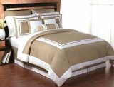 Consolador del algodón de la hoja de cama del hotel y acogedor