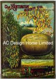과일 디자인 직사각형 MDF 나무로 되는 서류상 전사술 벽 장식 패