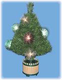 繊維の球のクリスマスツリー(ST-24FBL)