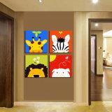 4部分の現代壁の芸術はキャンバスのホーム装飾Mc252で絵画漫画の絵画部屋の塗られた装飾によって組み立てられた芸術映像を印刷した