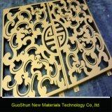 Material de construcción tallado el panel de aluminio perforado para la decoración