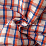 100%lino hilado teñido de tejido (QF13-0757)