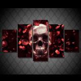 HD напечатало холстину Mc-091 изображения плаката печати декора комнаты печати холстины картины Res черепа роз полную
