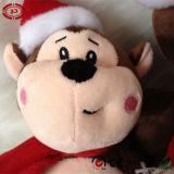 2015 Nouveau type de somptueux Xmas assis ce singe jouet en peluche