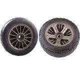 410/350-6 까만 PU는 타이어 외바퀴 손수레 거품이 일었다