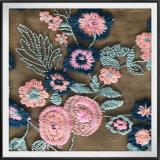 Шнурок вышивки сетки цветка шнурка вышивки Tulle шнурка вышивки сетки