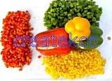 Bande de poivron IQF (vert, rouge, jaune)