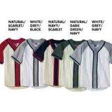 Camicia su ordinazione in bianco di Bottons del pullover di baseball di sublimazione