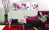 3 het Vrije Heet verkoopt Verschepen van het stuk de Moderne Verf van het Beeld van de Kunst van het Huis van de Bloem van het Muurschilderij Purpere Roze Blauwe Decoratieve op Af:drukken mc-177 van het Canvas