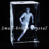 Crystal láser 3D del bloque de Fútbol (ND7025)