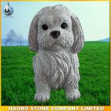 庭のための手Carved Granite Guardian Dog Sculpture