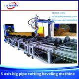Вырезывание CNC трубы большого диаметра стальное круглое и скашивая машина с кислородной резкой плазмы