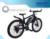 Bici eléctrica 8.8ah/5.2ah los 80-120km/40-50km del unicornio de Kupper de la montaña azul del negro