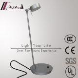 Lámpara de vector rotativa de lectura de la cabecera de plata de aluminio