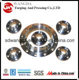 Kundenspezifischer hohe Präzision CNC-drehenprägestahlbodenplatte-Flansch