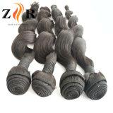En bruto de alta calidad natural del color de cabello virgen teje cabello humano.