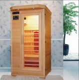 Pièce infrarouge portative de sauna en bois solide de famille