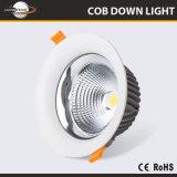 Alto brillo 100-240V de Vivienda de la luz de aluminio de 5 pulgadas de 8 pulgadas de 30 vatios de luz LED de 40 vatios abajo
