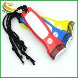 Pressé torche LED en PVC/trousseau de clés