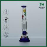 Neuestes Rohr-gesetztes Farben-tief geschnitztes Glasrohr 14 Zoll Wasser-Rohr-mit 18.8mm der weiblichen Verbindung