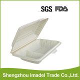 Foldable食品等級のプラスチックハンバーガーボックス
