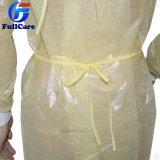 처분할 수 있는 PE는 뜨개질을 한 팔목을%s 가진 PP 외과용 가운으로 입혔다