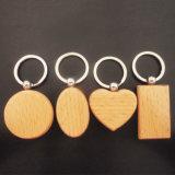 도매 주문 수공예 공백 목제 새기는 유명한 Keychain