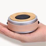 휴대용 유일한 디자인 드럼 모양 PU 가죽 방아끈을%s 가진 둥근 소형 Bluetooth 스피커