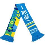 OEMによってカスタマイズされるジャカードによって編まれるアクリルの公式のフットボールのサッカーのスカーフ