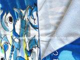 OEMはプリント綿のMicrofiberの昇進のスポーツの青いビーチタオルの浴室タオルの製造業者をカスタム設計する