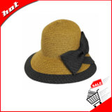 Chapéu flexível das mulheres do chapéu de Sun do Bowknot