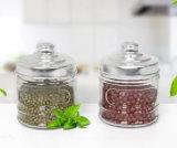 Contenitore di vetro caldo di vendita 200ml per l'alimento di memoria con il coperchio del metallo per articolo da cucina