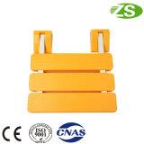 Branco e cadeira de chuveiro ajustável personalizada amarelo