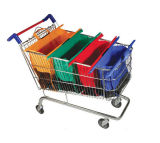 Supermarket Shopping Cart Trolley Bag Sac en polyester pour shopping personnalisé