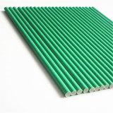 Solid Green Color 100% Eco-Friendly paille de boisson en plastique