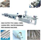 Автоматическая проводка PVC проходя машинное оборудование изготавливания пластмассы трубы прессуя