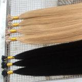 実質の人間の毛髪の拡張棒の毛はPrebondedの毛を私ひっくり返す
