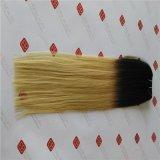 機械はRemyのインドの毛を搭載するよこ糸を作った