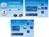 Cryo efectiva Lipolaser RF Conformación de grasa corporal fusión al vacío cavitación