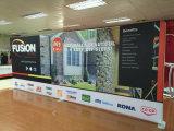 Tradeshow-Hintergrund-Gewebe-Vinylineinander greifen-Fahnen-Bildschirmanzeige oben knallen, welche die schnelle Anlieferung, die einfach ist, den kundenspezifischen Ausstellung-Geräten-Fabrik-Ausstellung-Stand tragen, der Standplatz bekanntmacht