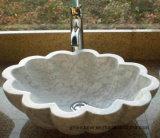 浴室または台所のための磨かれたベージュロジンのヒスイの大理石の石の流し