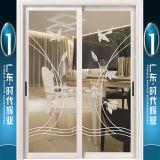 Portas deslizantes decoradas alumínio de boa qualidade com vitrificação dobro