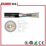 144 tipo encalhado ao ar livre cabo de fibra óptica dos núcleos GYTA para a rede