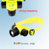 방수 Ipx8 150lm 3W 크리 말 XP-E R2 Diving LED Headlamp (POPPAS- FT50)
