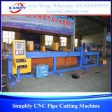 Cortadora triaxial económica del tubo del CNC